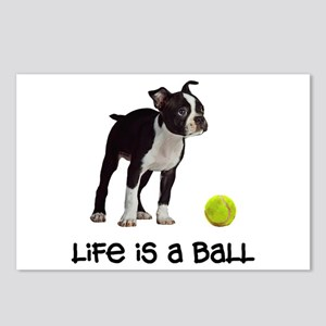 Boston Terrier Life Postcards (Package of 8)