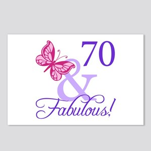 70th Birthday Butterfly Postcards (Package of 8)