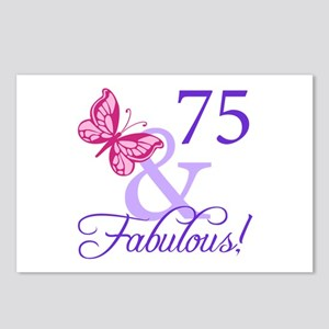 75th Birthday Butterfly Postcards (Package of 8)