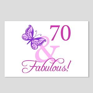 70 & Fabulous (Plumb) Postcards (Package of 8)