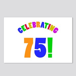 Rainbow 75th Birthday Party Postcards (Package of