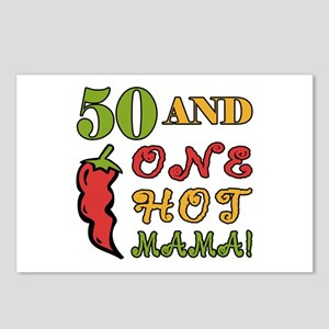 Hot Mama At 50 Postcards (Package of 8)