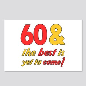 60th Birthday Best Yet To Come Postcards (Package