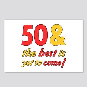 50th Birthday Best Yet To Come Postcards (Package