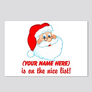 Personalized Nice List Postcards (Package of 8)