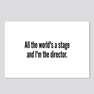 World's a Stage I'm Directing Postcards (Package o