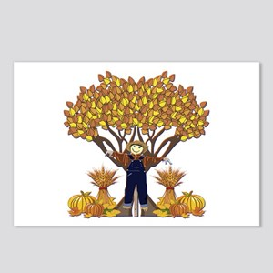 Autumn Scarecrow Postcards (Package of 8)