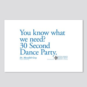 30 Second Dance Party Quote Postcards (Package of