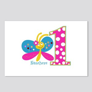 Butterfly First Birthday Postcards (Package of 8)