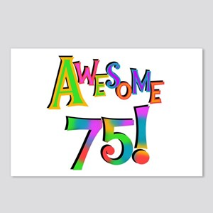 Awesome 75 Birthday Postcards (Package of 8)