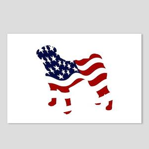 Patriotic Pug - Postcards (Package of 8)