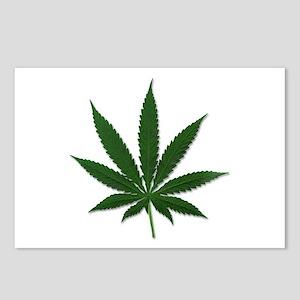 Marijuana Pot Leaf Postcards (Package of 8)