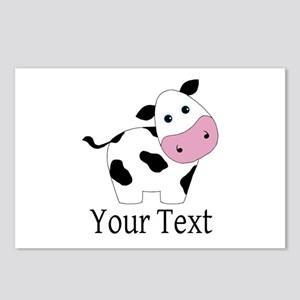 Personalizable Black and White Cow Postcards (Pack