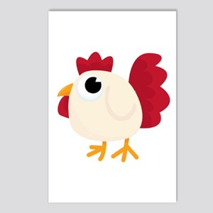 Funny White Chicken Postcards (package Of 8)