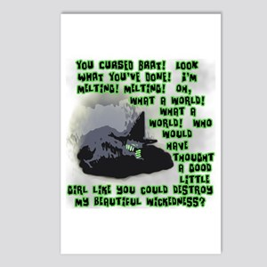 I'm Melting..Wicked Witch Postcards (Package of 8)