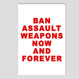 BAN ASSAULT WEAPONS FOREVER Postcards (Package of