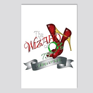 75th Anniversary Wizard of Oz Ruby Slippers Postca
