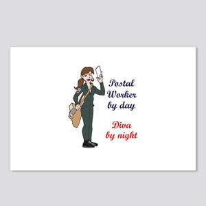 POSTAL WORKER BY DAY Postcards (Package of 8)