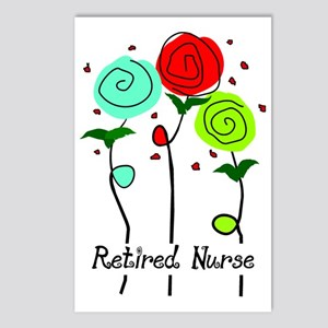 Retired Nurse Floral Postcards (Package of 8)