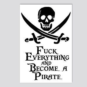 Become a pirate Postcards (Package of 8)
