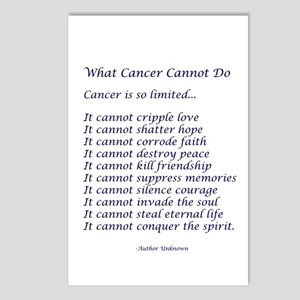 What Cancer Cannot Do Poem Postcards (Package of 8