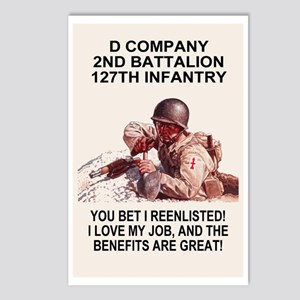 ARNG-127th-Infantry-D-Co- Postcards (Package of 8)
