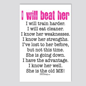 I Will Beat Her Postcards (Package of 8)