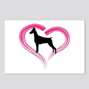 Heart My Doberman Postcards (Package of 8)