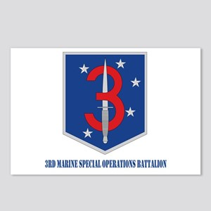 3d Marine Special Operations Bn with Text Postcard