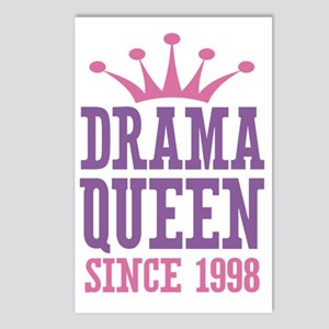 Drama Queen Since 1998 Postcards (Package of 8)