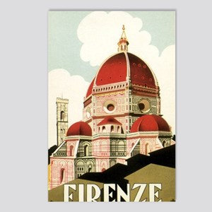 Vintage Firenze Italy Chu Postcards (Package of 8)