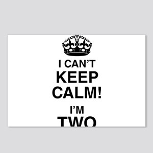 I Can't Keep Calm I'm Two Postcards (Package of 8)