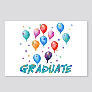 Graduation Balloons Postcards (Package of 8)