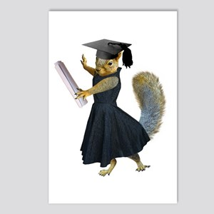 Girl Squirrel Grad Postcards (Package of 8)