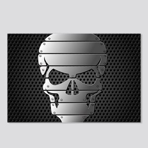 Chrome Skull Postcards (Package of 8)