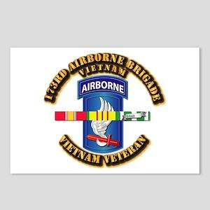 Army - 173rd Airborne Brigade w SVC Ribbons Postca