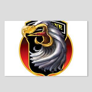 Screamin' Eagles Badge Postcards (Package of 8)