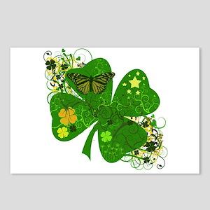 Fancy Irish 4 leaf Clover Postcards (Package of 8)