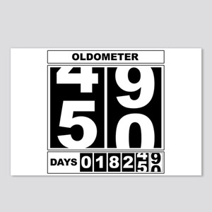 50th Birthday Oldometer Postcards (package Of 8)