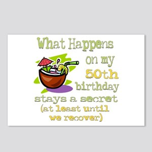 What Happens 50th Postcards (Package of 8)