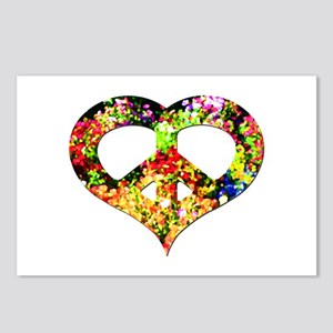 Flower Peace Heart Postcards (Package of 8)