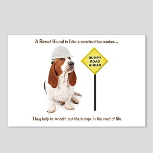 Basset Hound Construction Postcards (Package of 8)