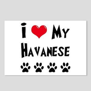 I Love My Havanese Postcards (Package of 8)