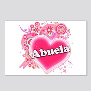 Abuela Heart Art Postcards (Package of 8)