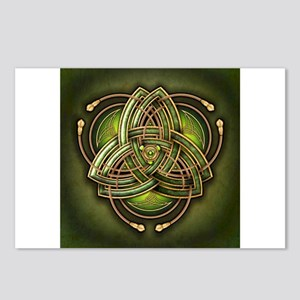 Green Celtic Triquetra Postcards (Package of 8)