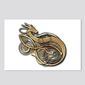 Gold Norse Dragon Postcards (Package of 8)