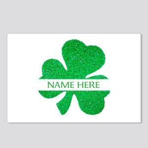 Custom Name Shamrock Postcards (Package of 8)