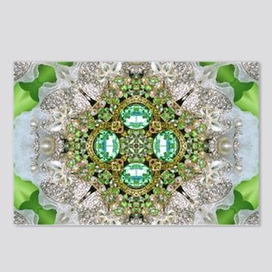 green diamond bling Postcards (Package of 8)