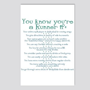 You Know You're a Runner If Postcards (Package of