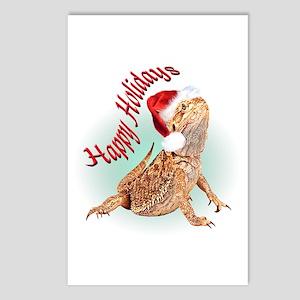 Bearded Dragon Santa Postcards (Package of 8)